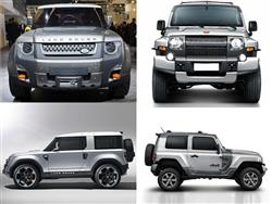 Land Rover Defender DC100 vs Ford Troller T4